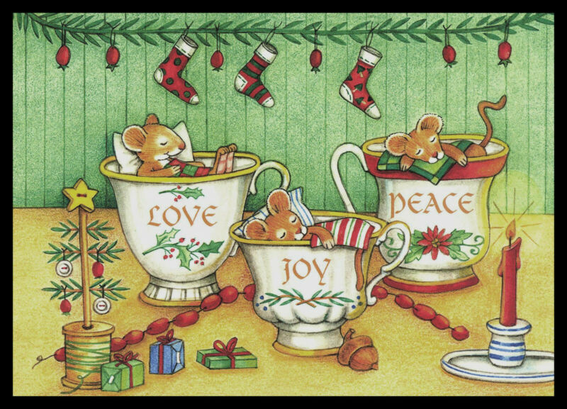 J685-MSA Mouse Christmas Greeting Card NEW
