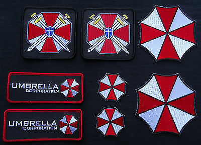 Resident Evil Umbrella CORPORATION Costume Full [Set of 8] patches BY MILTACUSA