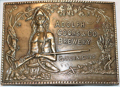ATA-02 Brass Belt Buckle Adolph Coors & Co Brewery Montauk Silver Company