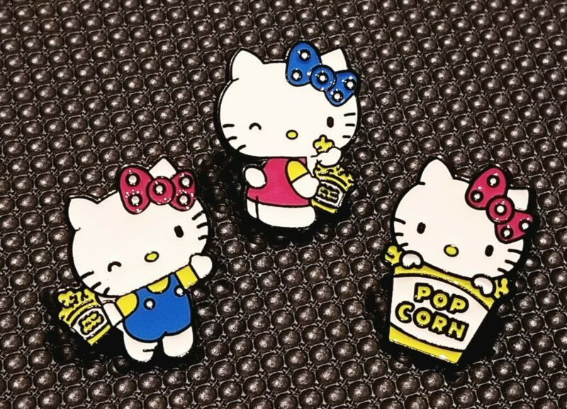 Hello Kitty Popcorn Pals - 3 Enamel Pins