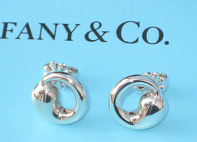 "Tiffany & Co. Sterling Silver Elsa Peretti 3/8"" Eternal Circle Stud Earrings"