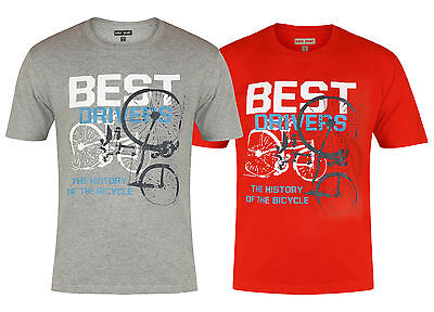 New Mens T-Shirts Best Drivers Top Cotton Crew Neck Grey And Red Fast Post (Best T Post Driver)