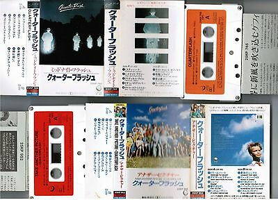 QUATERFLASH Lot of 2 JAPAN CASSETTE TAPE w/PS+Insert 25KP765&952 st&Take Another