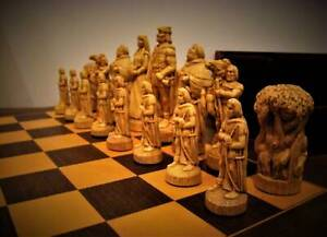 SAC Hand Carved Robin Hood Chess Pieces & 50cm Board Claremont Nedlands Area Preview
