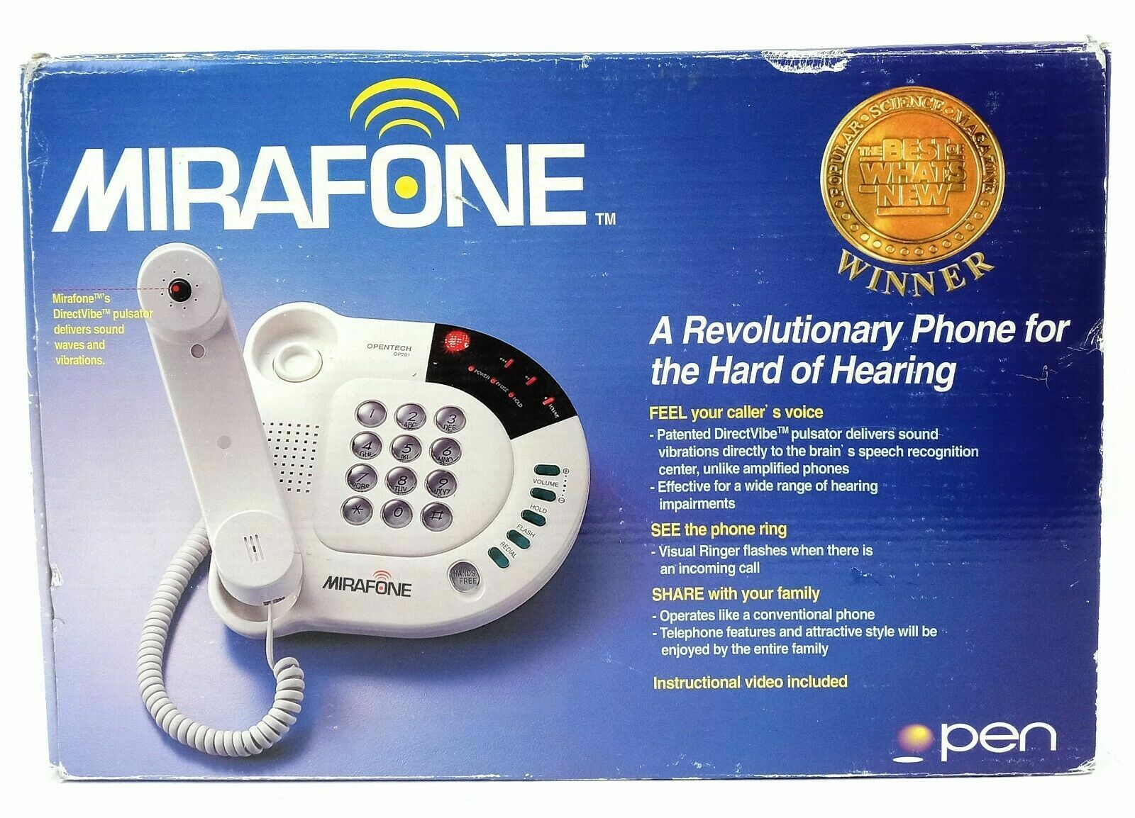 Mirafone Hearing Impaired Telephone OP201 Direct Vible OpenTech