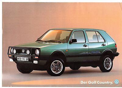 Volkswagen Golf Country Mk2 1989-90 German Market Leaflet Sales Brochure