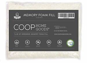 Coop Home Goods - Adjustable Shredded Memory Foam Pillow - Refill - Foam 1/2 LB