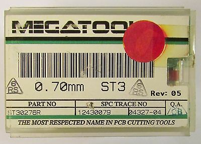 Box Of 50 Megatool St30276r .70mm St3 Reshopped Carbide Pcb Drill Bit Set