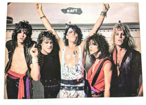 RATT / ROBBIN CROSBY / FULL BAND MAGAZINE FULL PAGE PINUP POSTER CLIPPING (9)