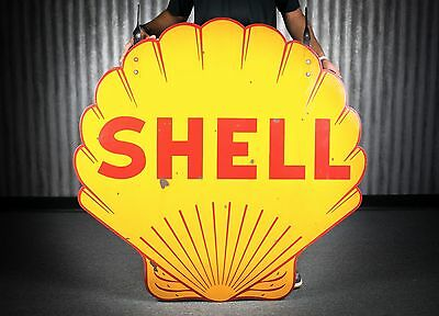 Original Porcelain Shell Gasoline Sign 1920's