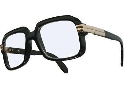 80s Retro Hip Hop Nerd Rapper DJ Glasses Square Frame Clear Lens Black