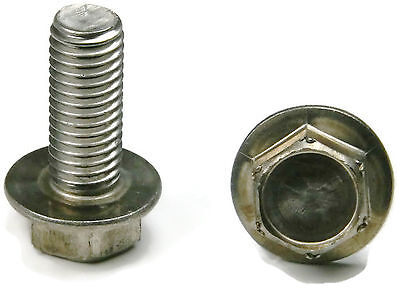 Stainless Steel Hex Cap Flange Bolt Ft Metric M6 X 1.0 X 12m Qty 10