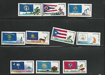 2011 4313-4322 FLAGS OF OUR NATION V TEN SINGLES MNH