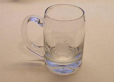 VERY RARE Apple Logo Christmas 1983 Large Glass Mug by Apple Computer