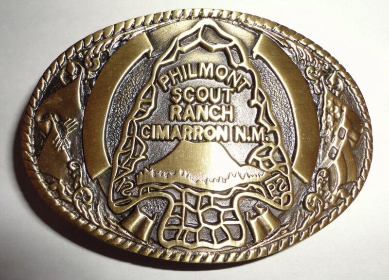 Philmont Scout Ranch Bronze Arrowhead Belt Buckle - Boy Scouts of America BSA