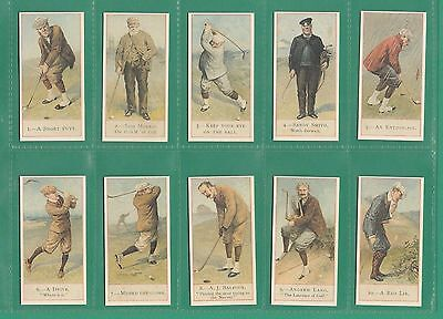 REPRODUCTION  SET  OF  50  COPE'S  GOLFER  CARDS  OF  1900  -  1984