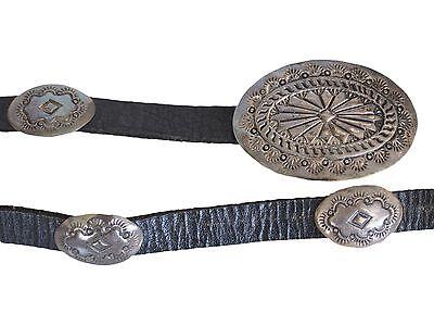 Navajo Vintage Sterling Silver Concho Belt
