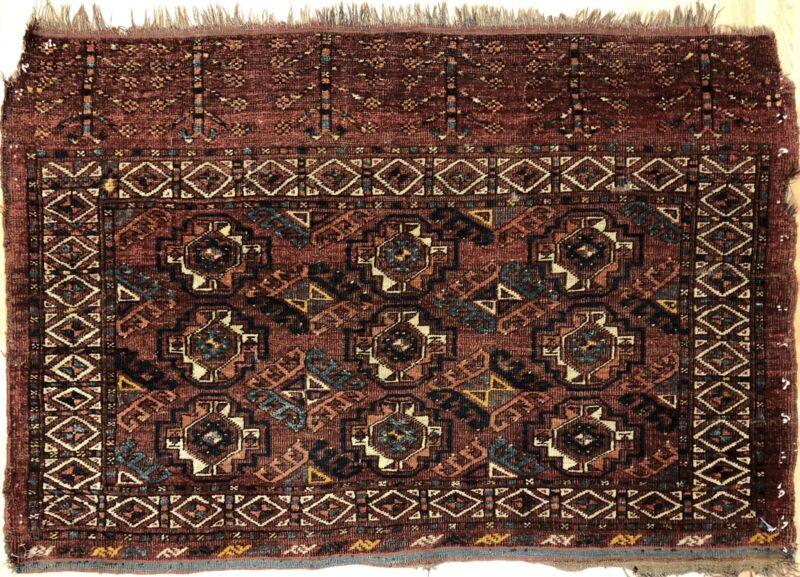 Tremendous Turkmen - 1930s Tekke Gul Bokhara Rug - Tribal Carpet - 3.2 X 4.6 Ft