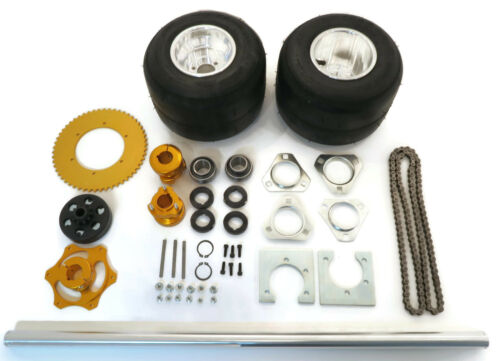 40 Inch Shaft Kit for Drift Trike Bikes with Twelve Axle Nuts, Four Lock Collars
