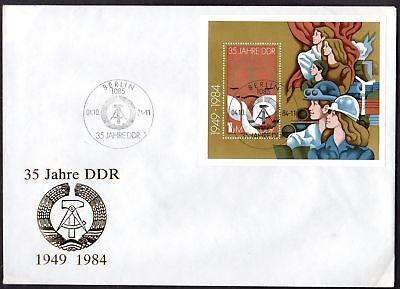 """DDR, FDC Block """"35 Jahre DDR"""""""