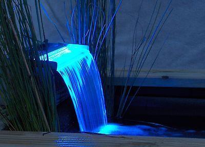 Wasserfallschale Niagara 30 von Ubbink mit blauer LED Leiste Wasserfall Schale Fall Blaue Led