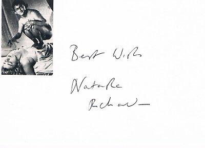 "Natasha Richardson 1963-2009 genuine autograph signed 4""x6"" card w. picture"