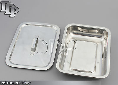 Instrument Tray With Lid 8x6x2 Surgical Dental Instruments