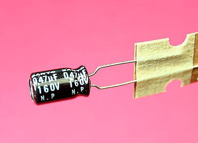 12pc Sanyo Radial Capacitor .47uf 160v Bp Np Bipolar Non-polarized 6.5 X 11.5mm