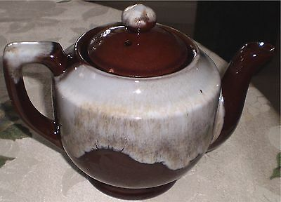 Brown White Teapot Tea Pot