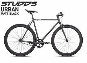 Matt Black Fixie Bike with Quando flip flop hub Adelaide CBD Adelaide City Preview