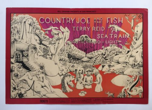 Country Joe and the Fish 1968 Fillmore Concert Poster BG89