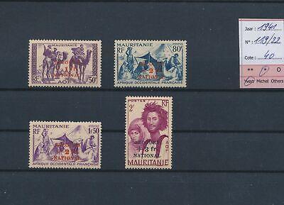 LO18783 Mauritania 1941 overprint secours national fine lot MH cv 40 EUR