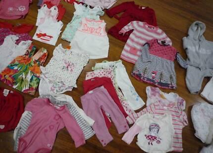 Spring Summer Baby girl clothes bundle size 0 w shoes, wondersuit