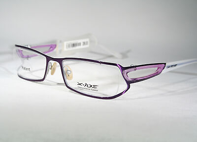Wild X-IDE 'Stanley' Cool Unique Glossy Purple Partially Rimless Glasses (Cool Rimless Glasses)