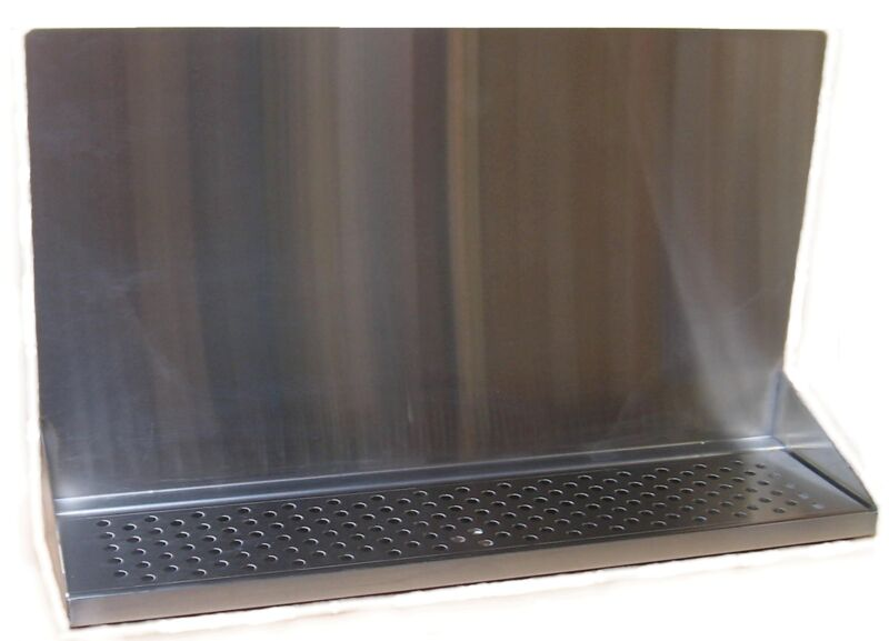 """Draft Beer Tower Wall Mt Drip Tray 24""""  Long W/ S.S. Grill & Drain# DTWM24SS"""