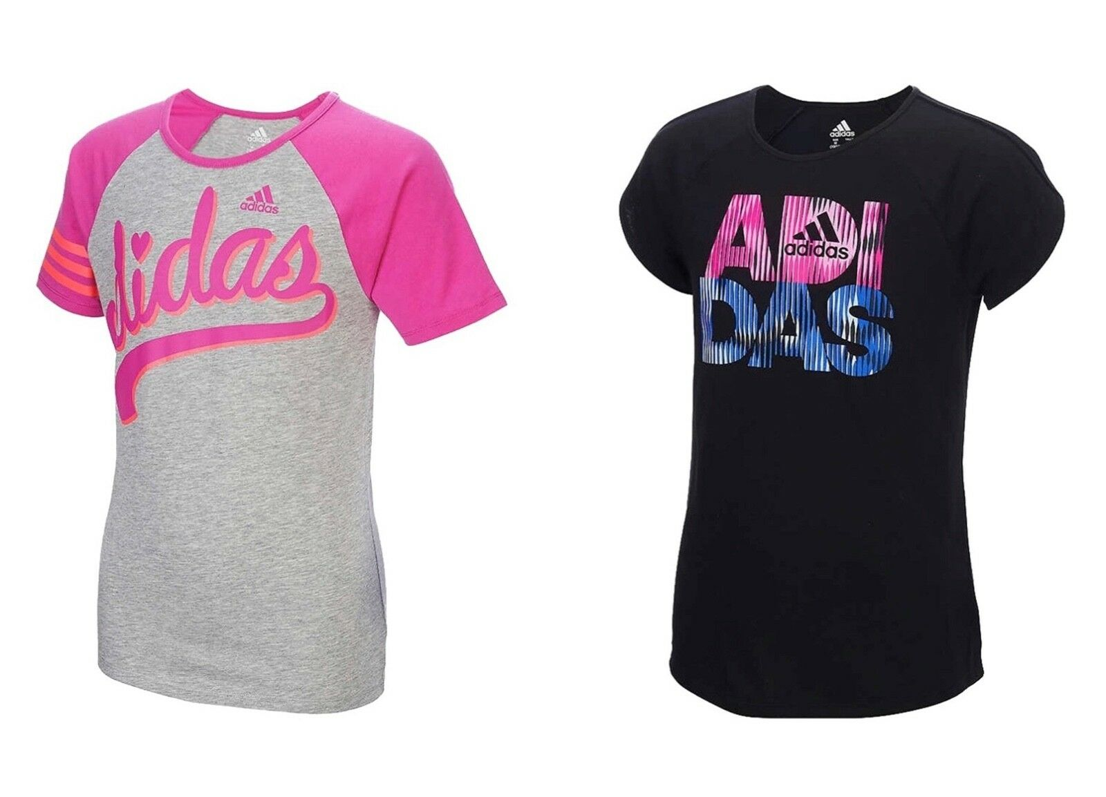 Adidas Girls' Active Short Sleeve T-Shirt - Select size/colo