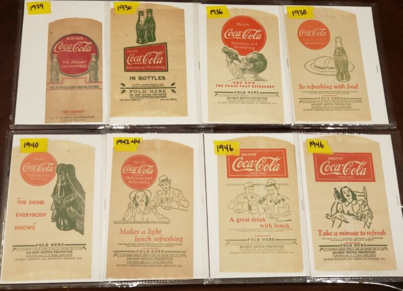 Coca Cola No Drip Bottle Bag Protectors - 14 Different