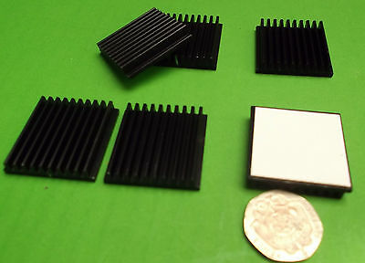 Heatsink CPU Games IC Heatsinks Video 6mm 30mm x 30mm SET Adhesive  x1pc Offers