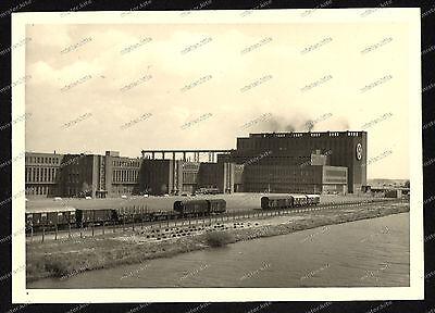 Foto-Volkswagen-Werk-Wolfsburg-Fallersleben-Gebäude-Bahnhof-1955-1