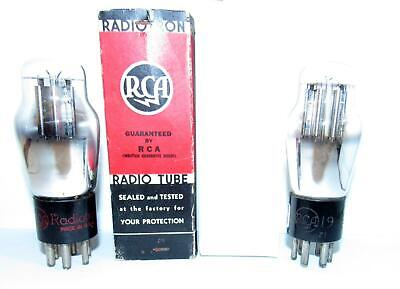 2 RCA type 19 twin-triode vacuum tubes. TV-7 test strong.