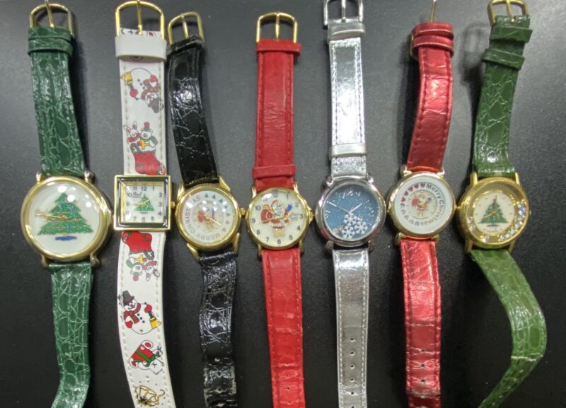 Christmas Holiday Womans Ladies Watch Lot Repair Parts Craft Costume Jewelry
