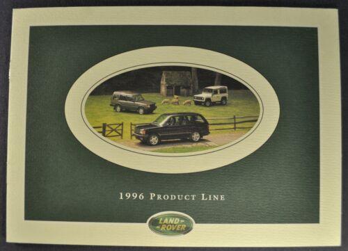 1996 Land Rover Brochure Range Rover Discovery Defender 90 Excellent Original 96