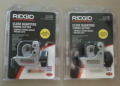 2 X Ridgid 14 In. To 1-18 Close Quarter Tubing Cutter 40617 Pvc Plumbing Pipe