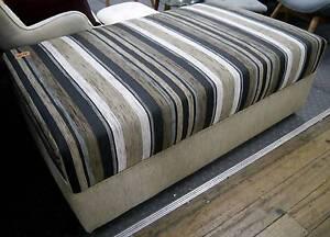 New Lounge Striped Sofa Ottoman Pouffe Footstool Australian Made Melbourne CBD Melbourne City Preview