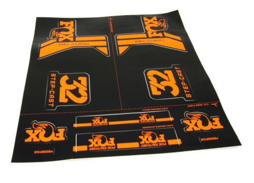 Fox Shox Step-Cast Decal Kit, Orange