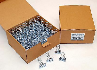100 Strut Channel Nuts 14-20 Standard Spring Zinc Plated Unistrut Nut