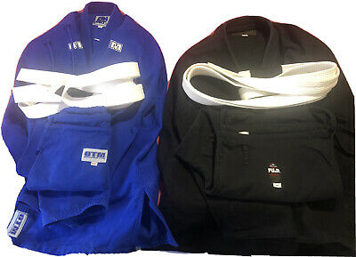 2- Men's BJJ Gis Blue OTM and Black Fuji A6 - Jui Jitsu, Judo
