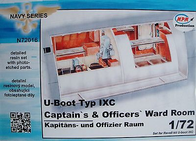 """MPM N72016 Detail Resin Set """"Officers´Ward Room"""" for Revell® U-Boot IXC in 1:72"""