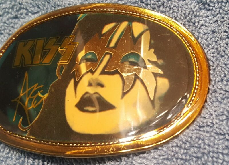 ACE FREHLEY Vintage 1977 Pacifica Belt buckle KISS RARE
