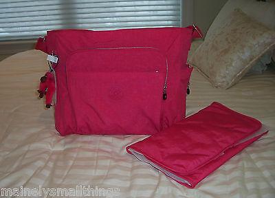 NWT Kipling KYLER Large Baby Diaper Tote Bag Vibrant Pink TM5327